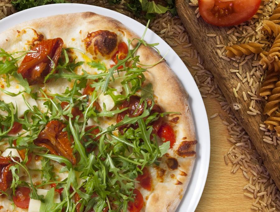 Pizza à moda saudável